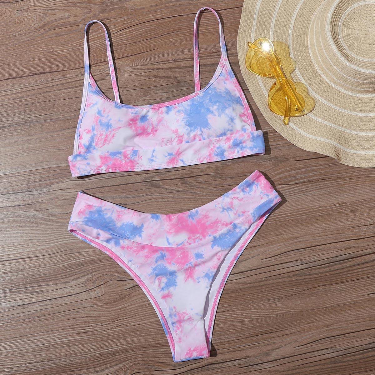 Разноцветный купальник бикини