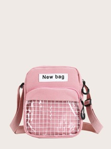 kids clear pocket front crossbody bag