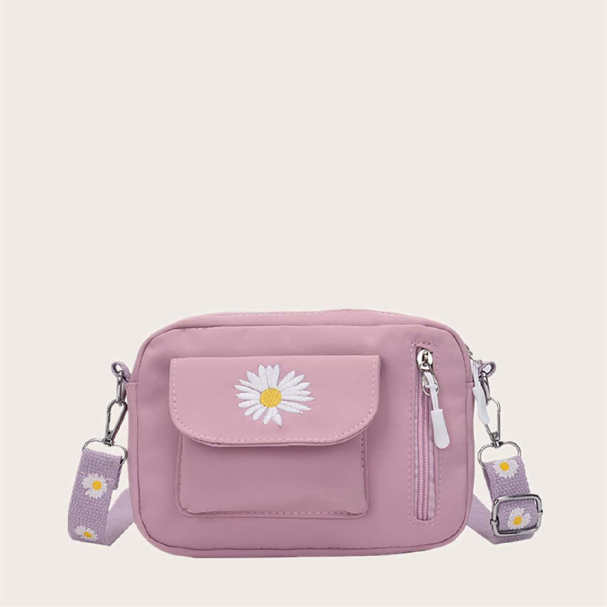 Передняя сумка через плечо с вышивкой Daisy
