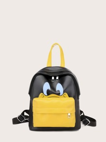 kids cartoon graphic pocket front backpack