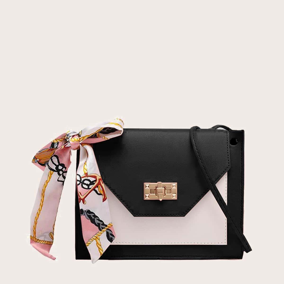 Двухцветная двухцветная сумка через плечо с цветочным принтом Twilly