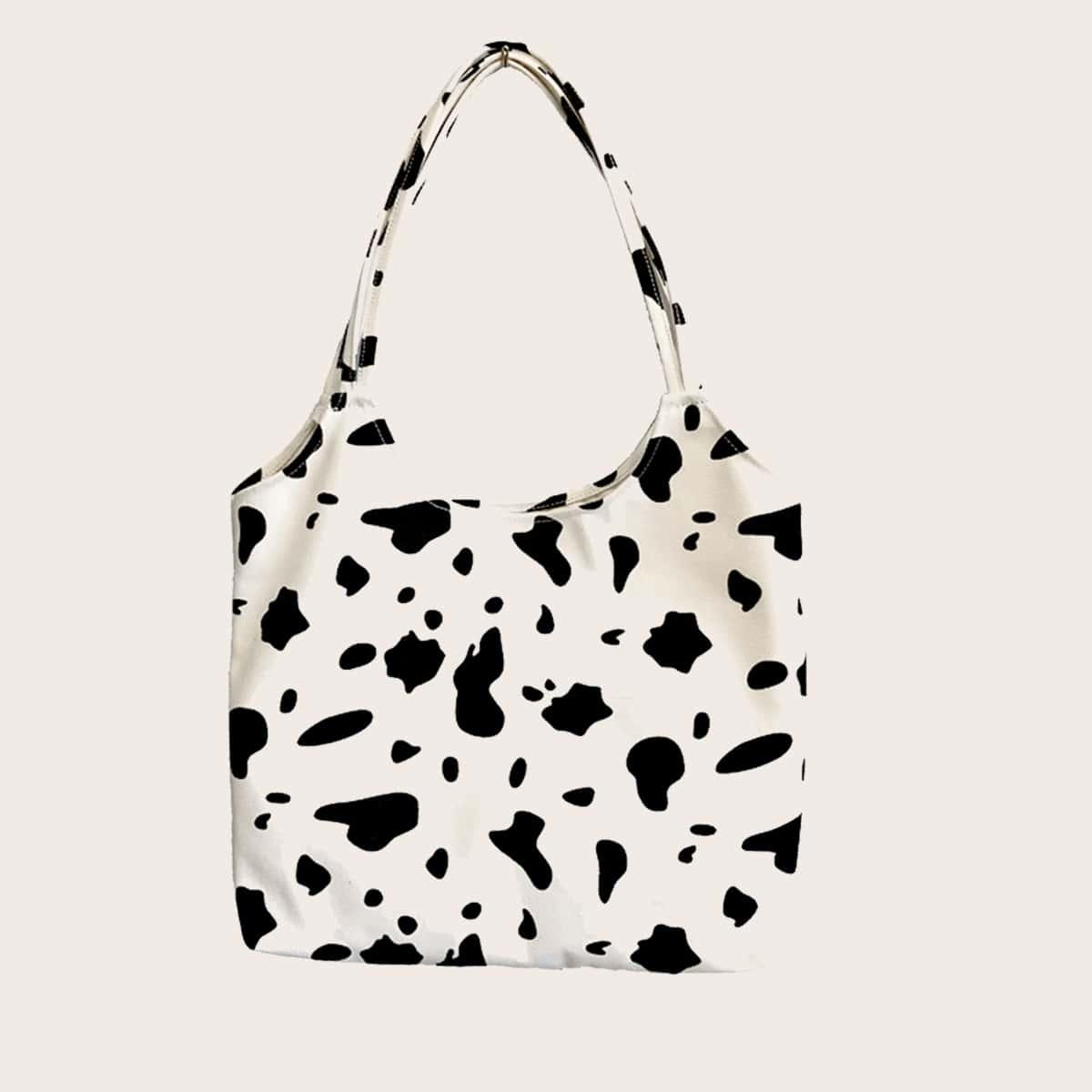Большая сумка с принтом коров