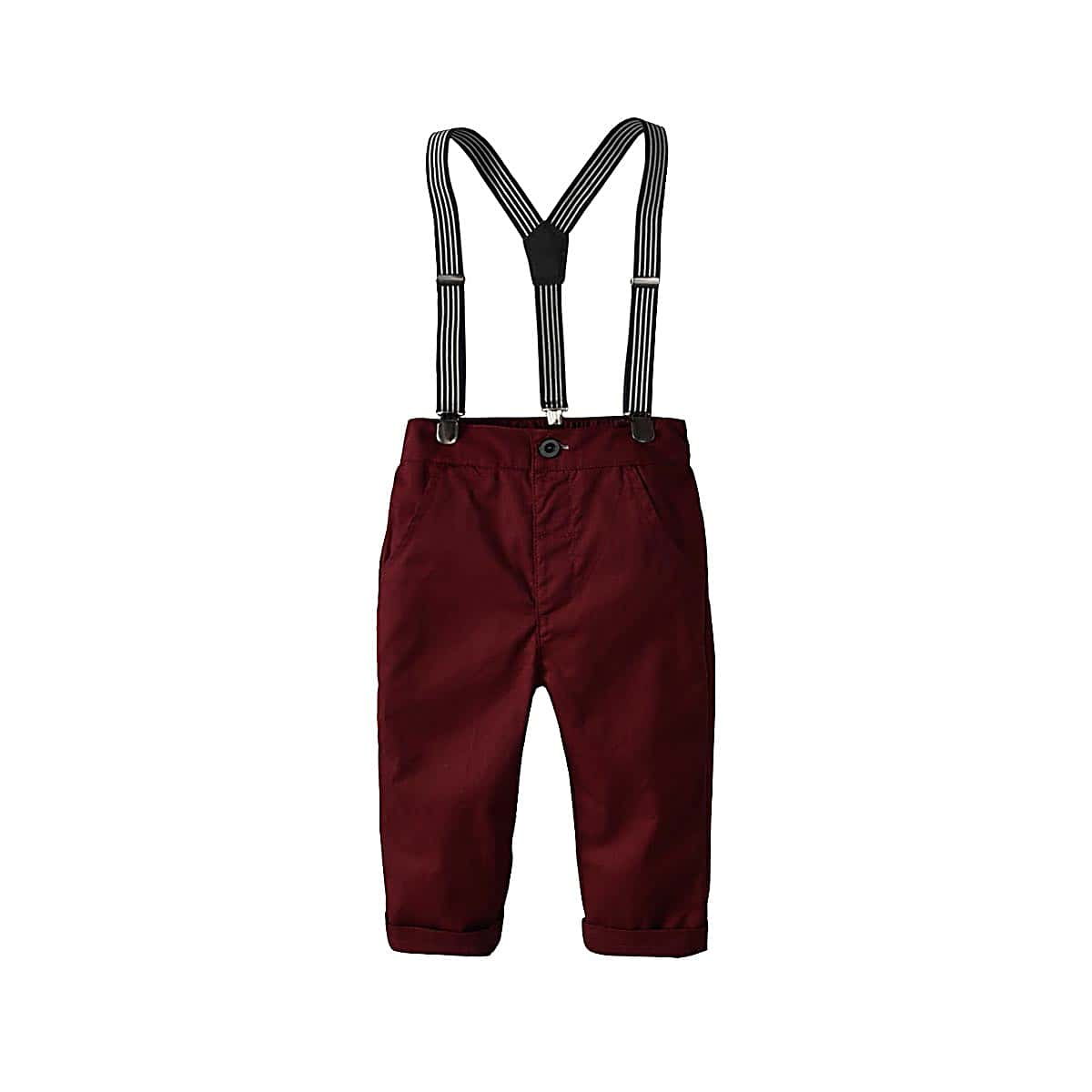 SHEIN coupon: Toddler Boys Solid Pants With Straps