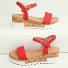 Open Toe Ankle Strap Flatform Sandals