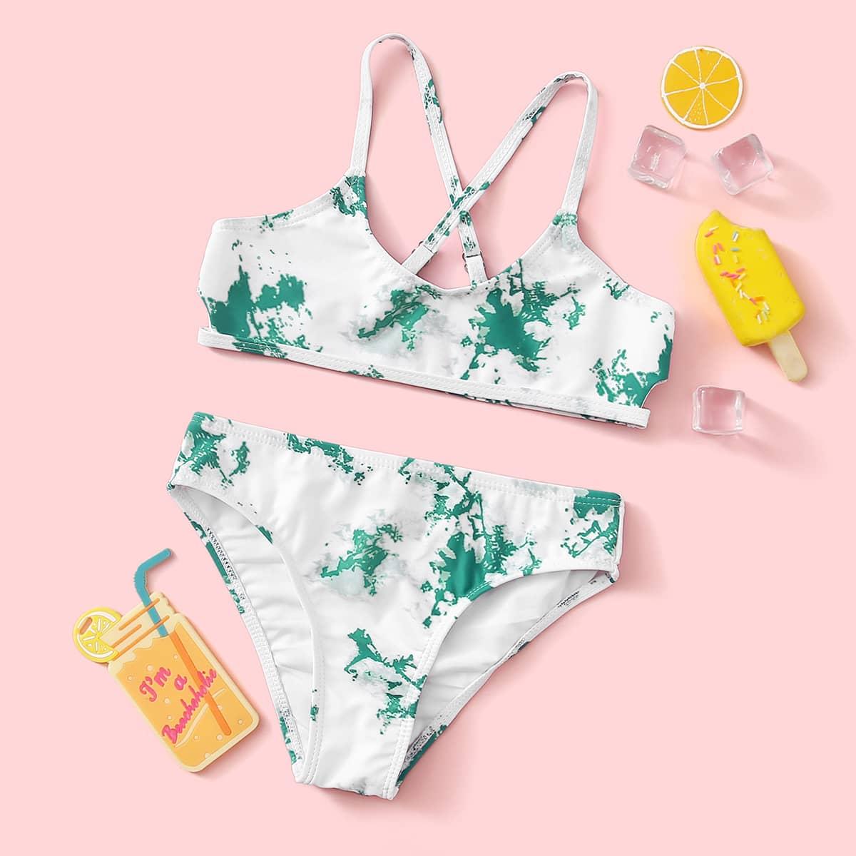 Разноцветный купальник бикини для девочек