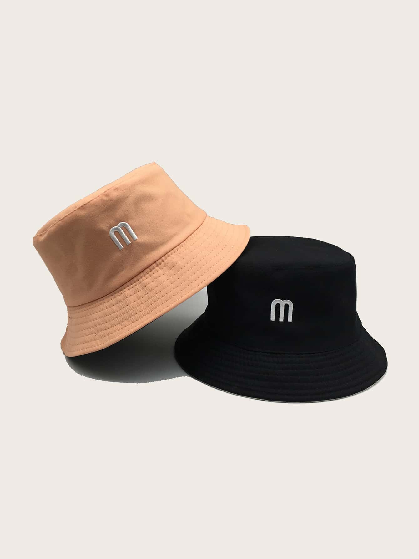 2pcs Letter Embroidery Bucket Hat Shein Singapore
