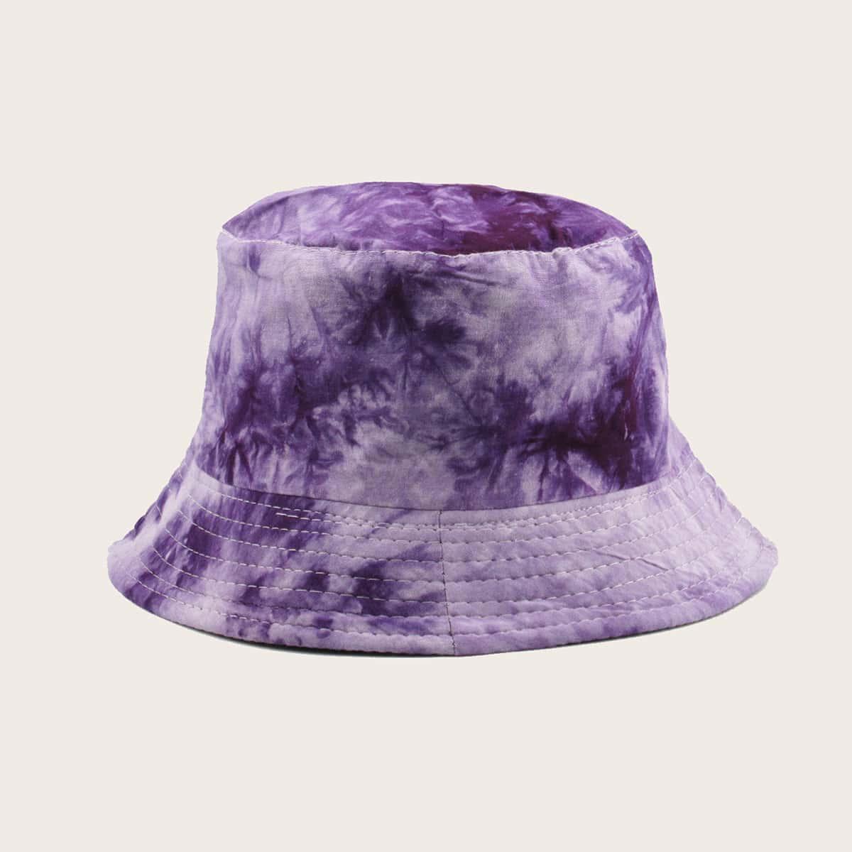 Шляпа с принтом тай дай