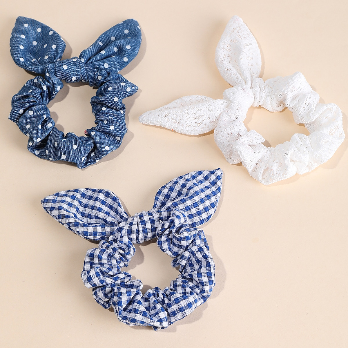Gingham Pattern Scrunchie, SHEIN  - buy with discount