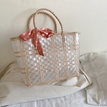 Daisy Tie Clear Tote Bag