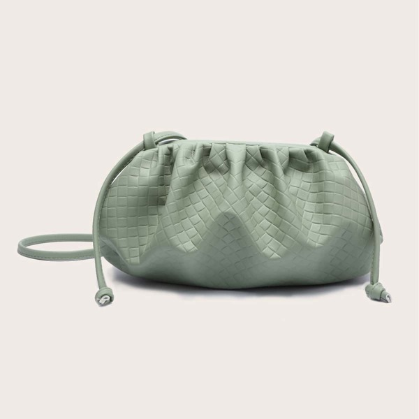 Minimalist Textured Clutch Bag, Green