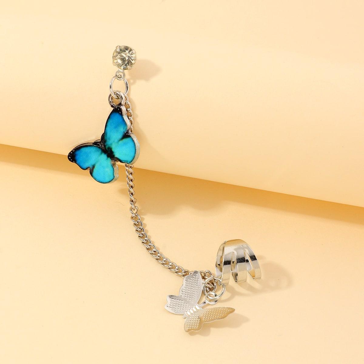 Серьги с бабочкой