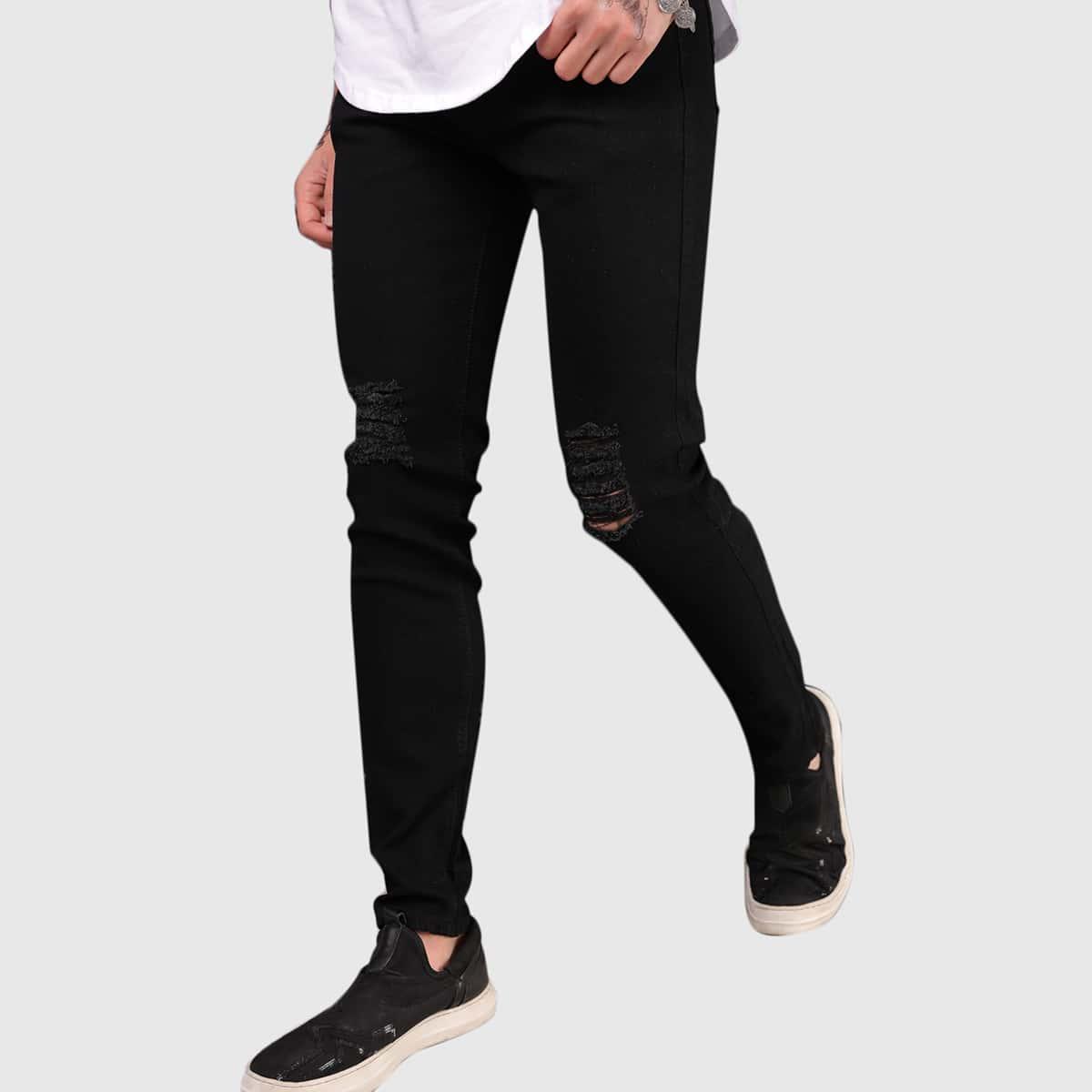 Мужские рваные джинсы