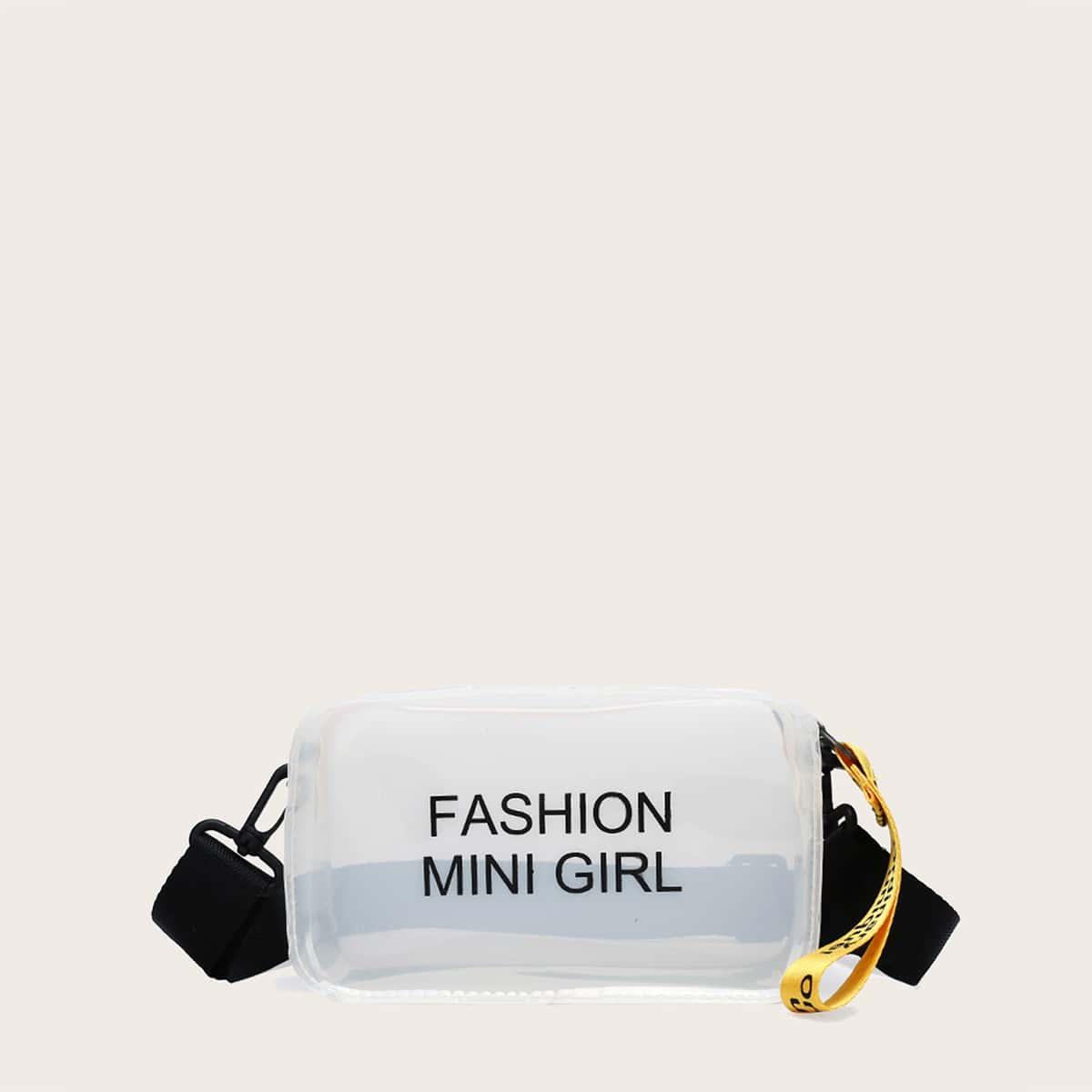 Прозрачная сумка через плечо с принтом для девочек SheIn skbag18200515982