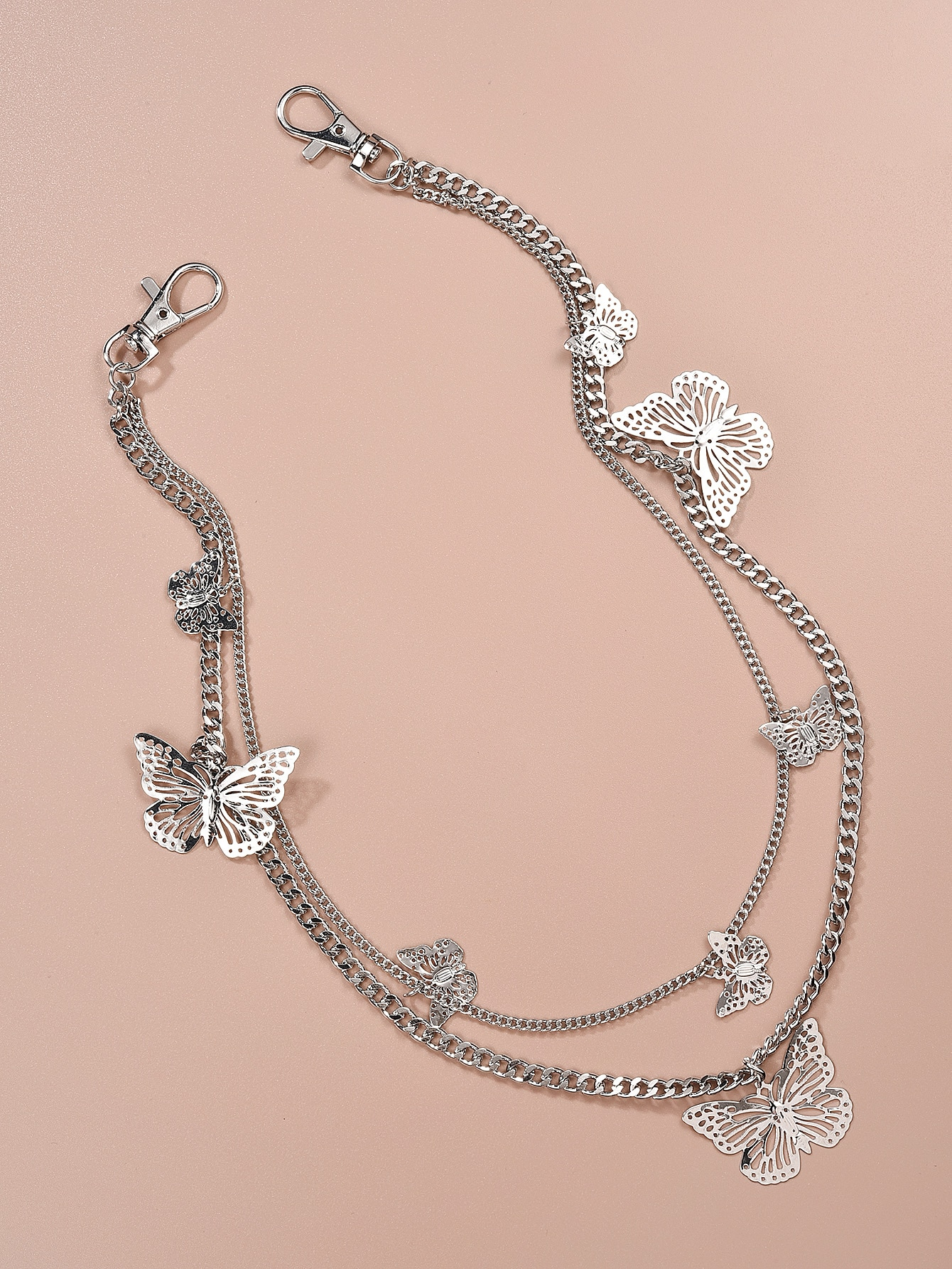 Butterfly Charm Layered Waist Chain thumbnail