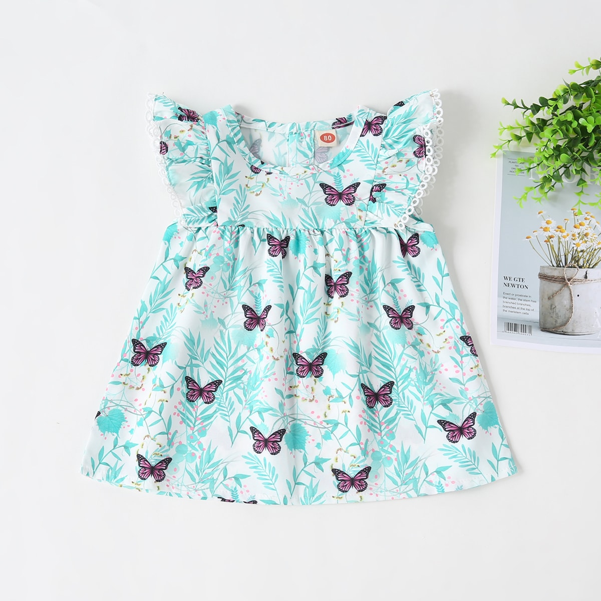 Платье с принтом бабочки для девочек от SHEIN
