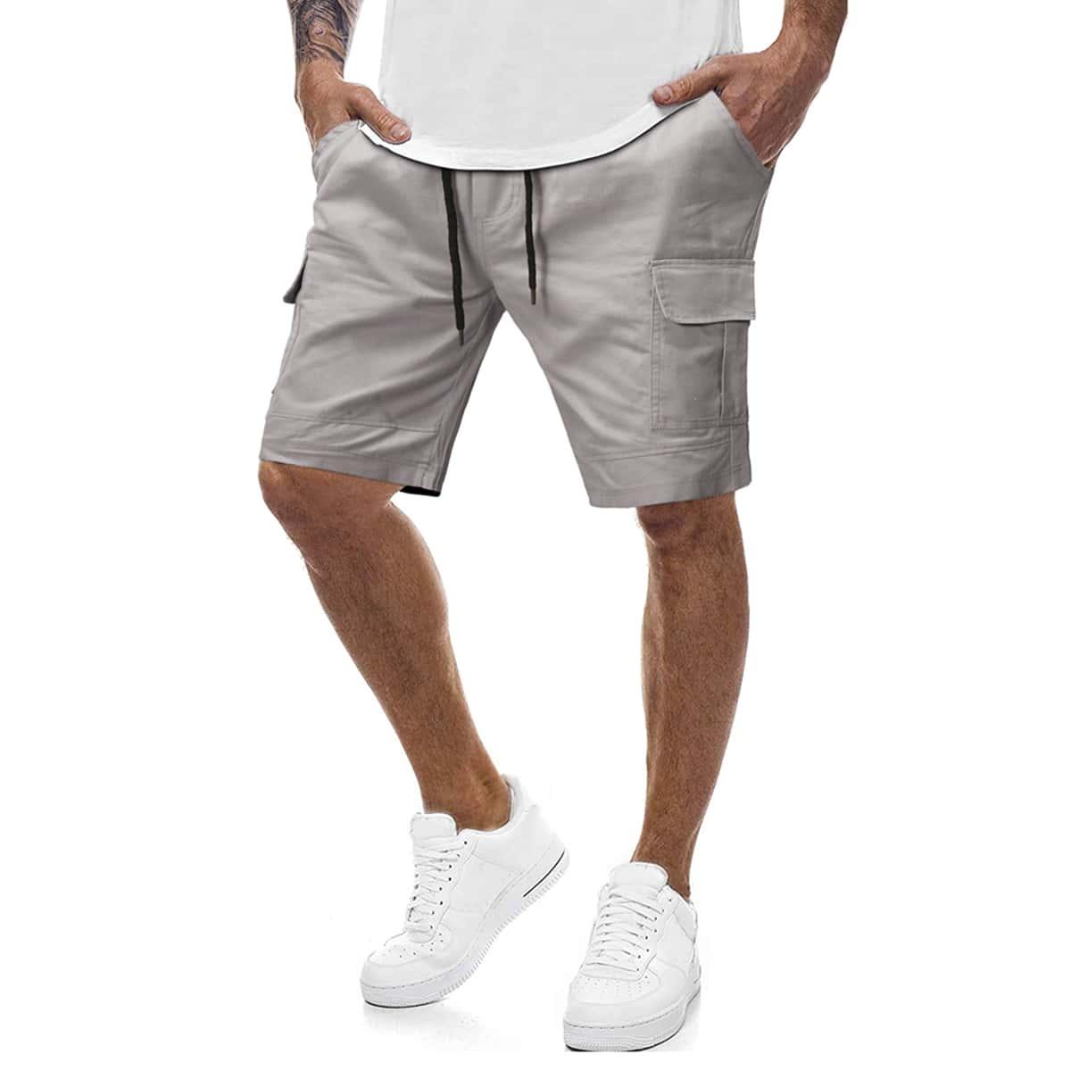 Мужские шорты на кулиске с карманом