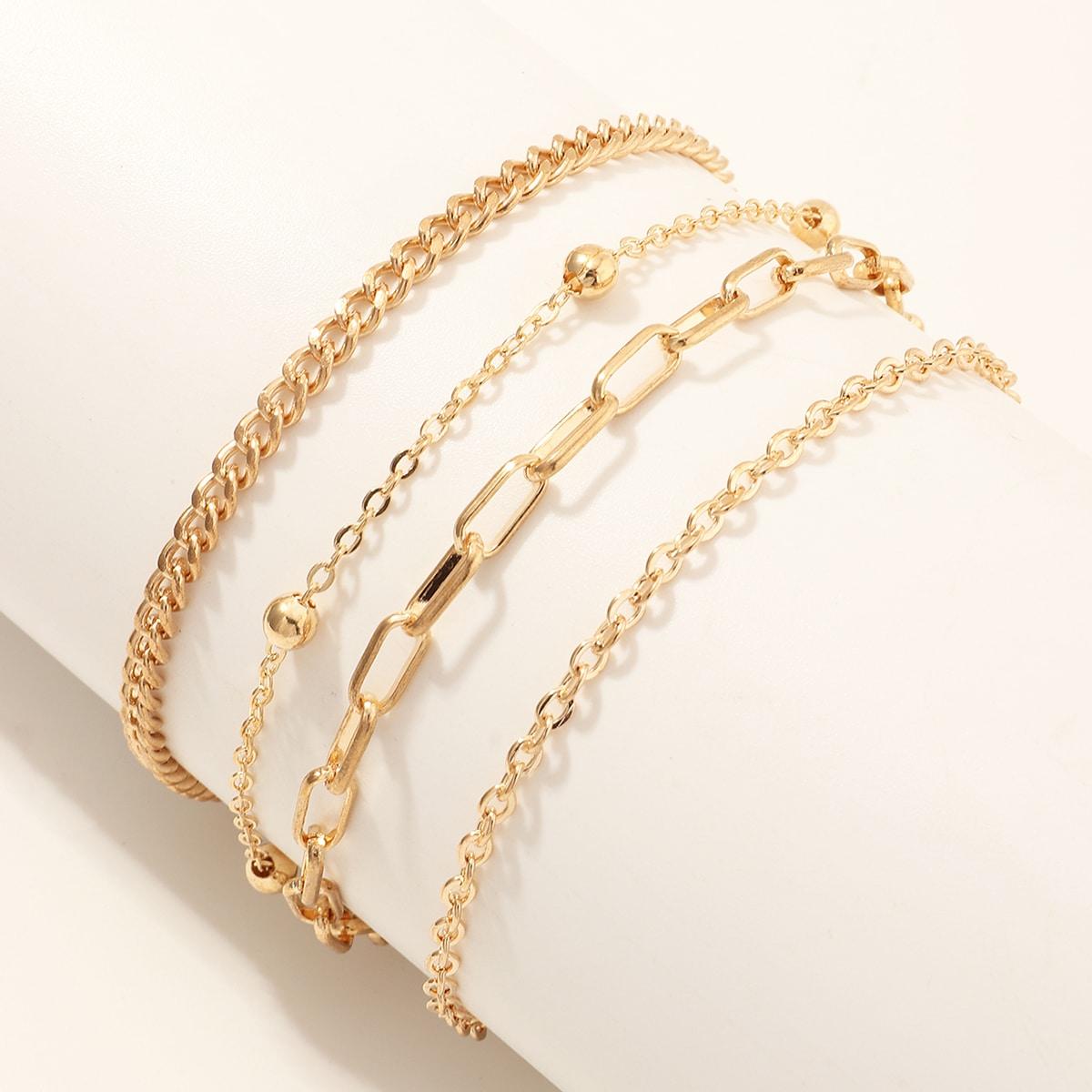 4 Stücke Mädchen Armband mit Kette Design