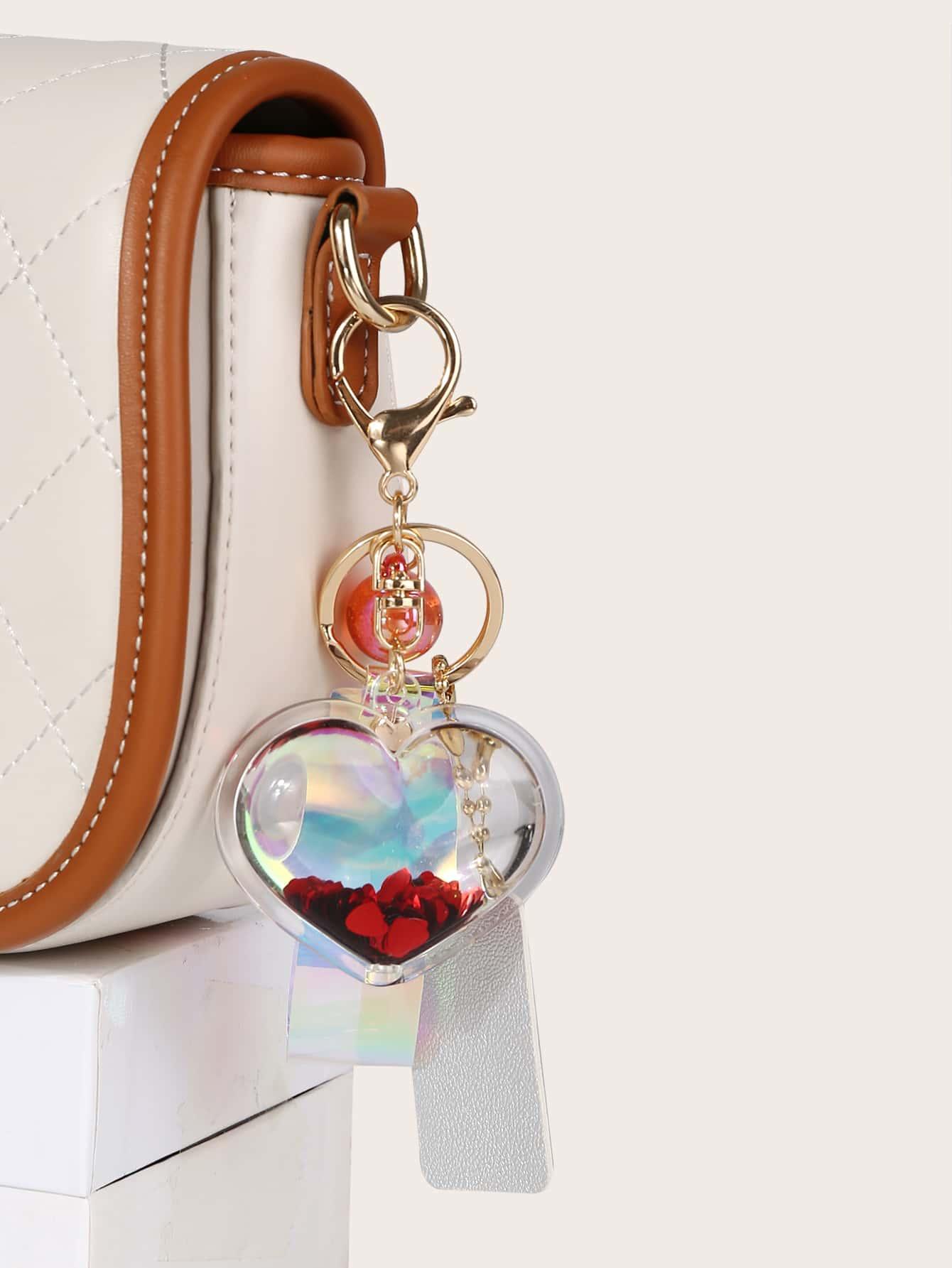 Подвеска для сумки в форме сердечка с декоромswbag18200522542