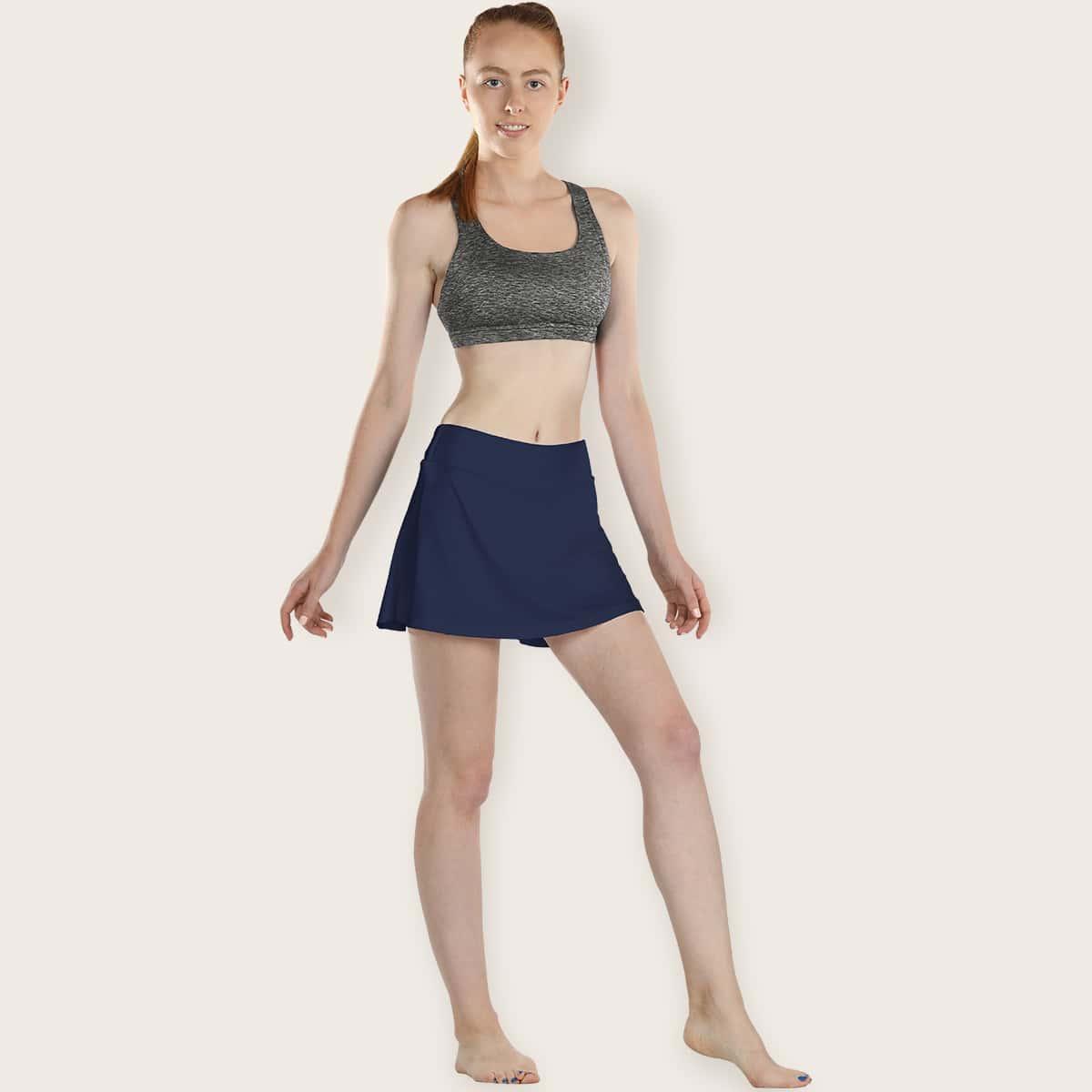 Однотонные спортивные юбка-шорты
