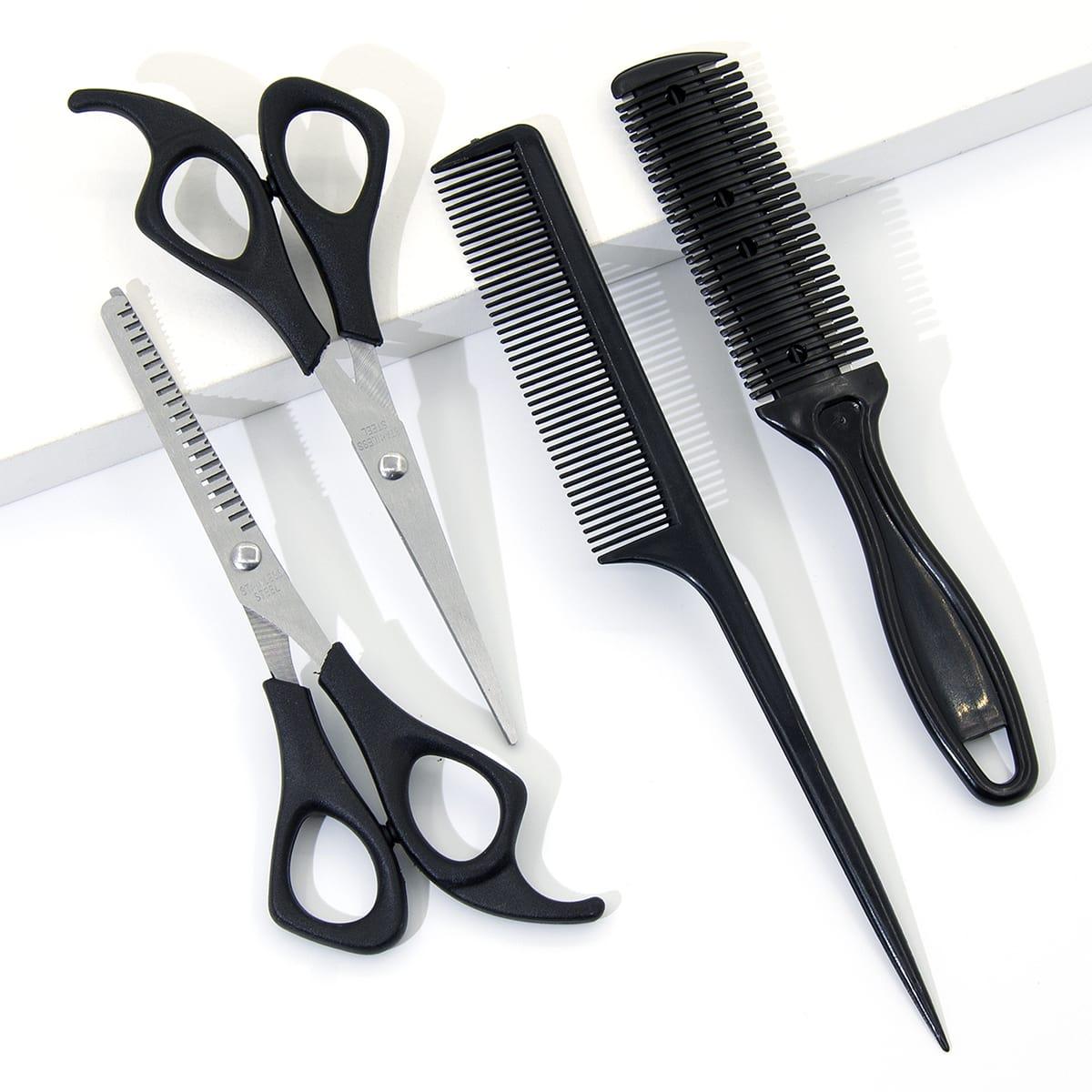 2шт стрижка ножниц и 2шт гребень
