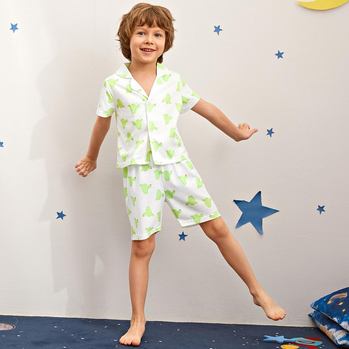 """Пижама с принтом """"кактус"""" для мальчиков"""