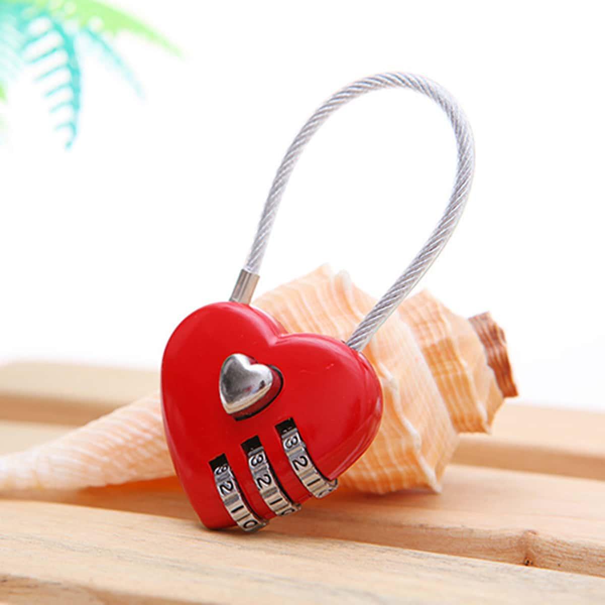 Блокировка паролем в форме сердца 1шт