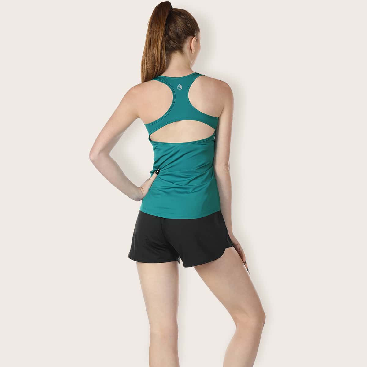 Icyzone Cut-out Racer Back Sports Tank Top, SHEIN  - buy with discount