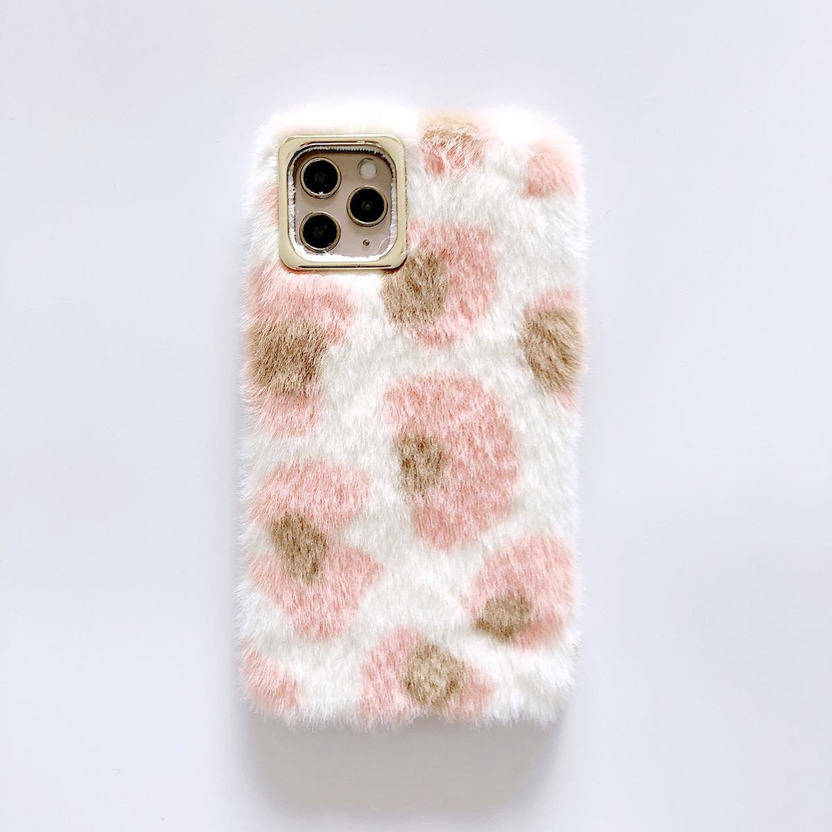 1 Stück iPhone Hülle mit Kunstpelz Deckel