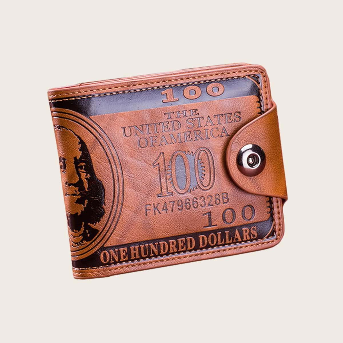 Мужской кошелек с текстовым принтом