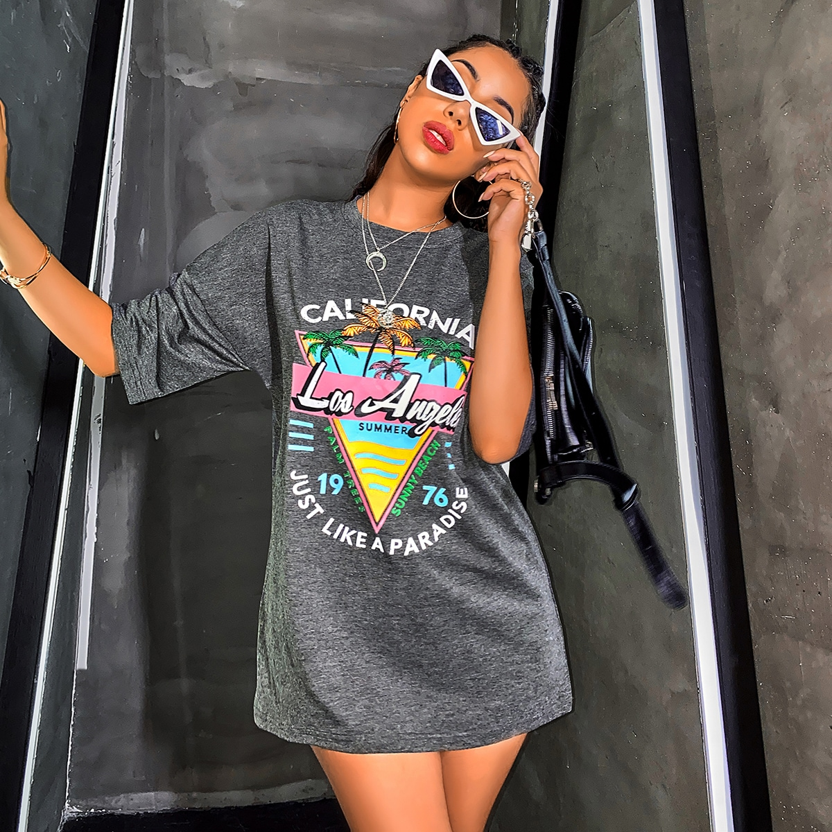 Los Angeles Summer Graphic Oversized Tee