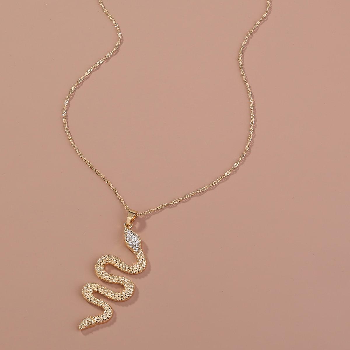 Halskette mit Serpentin Anhänger