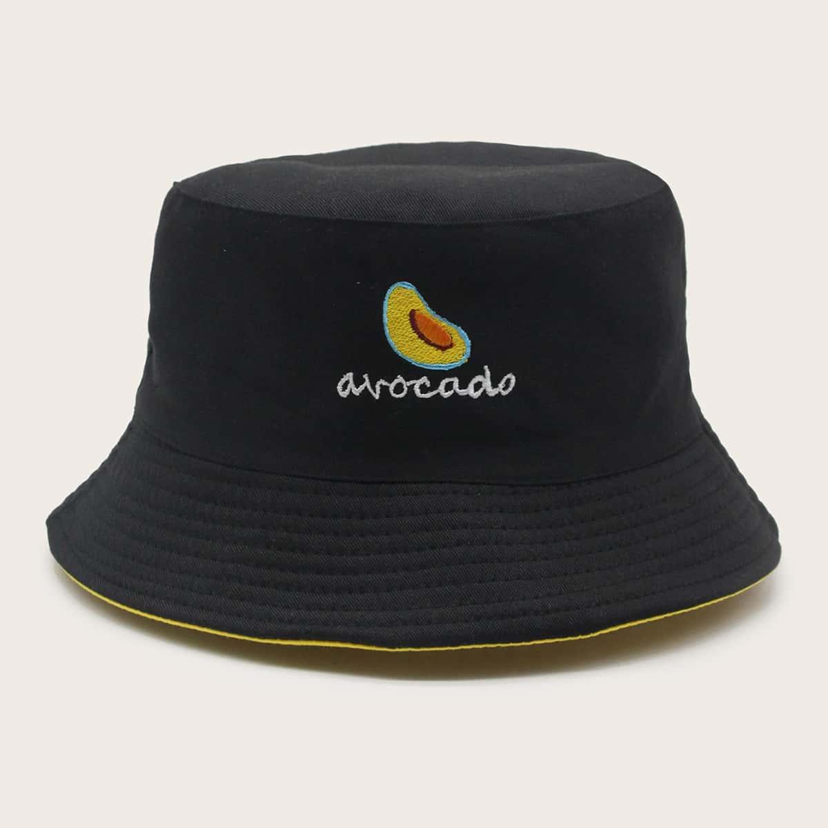 Шляпа с вышивкой фруктов