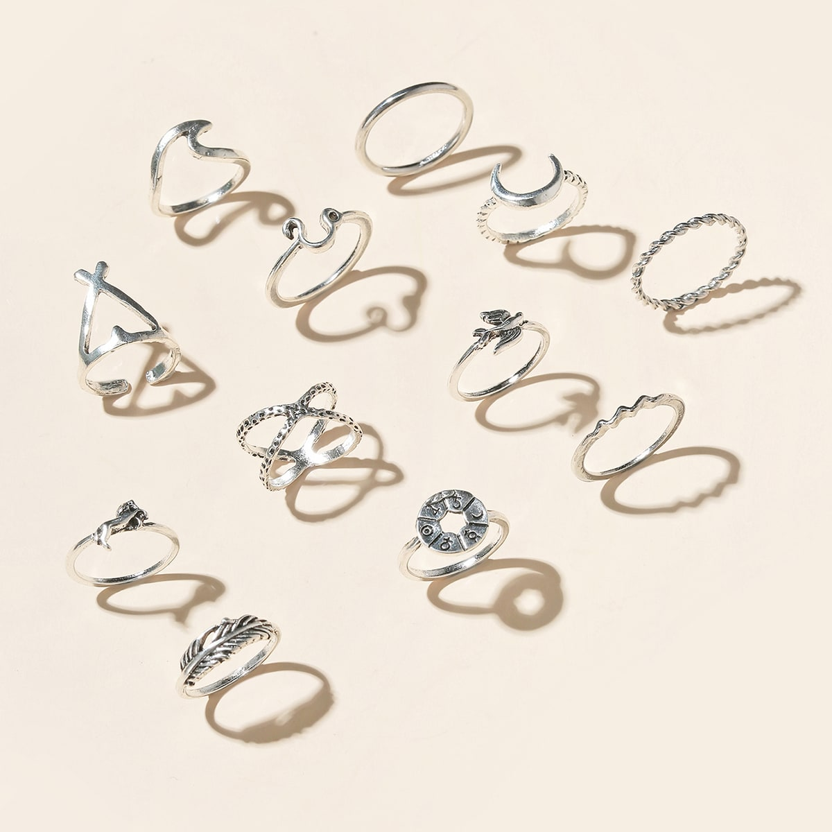 1Leaf Decor Ring, SHEIN  - buy with discount