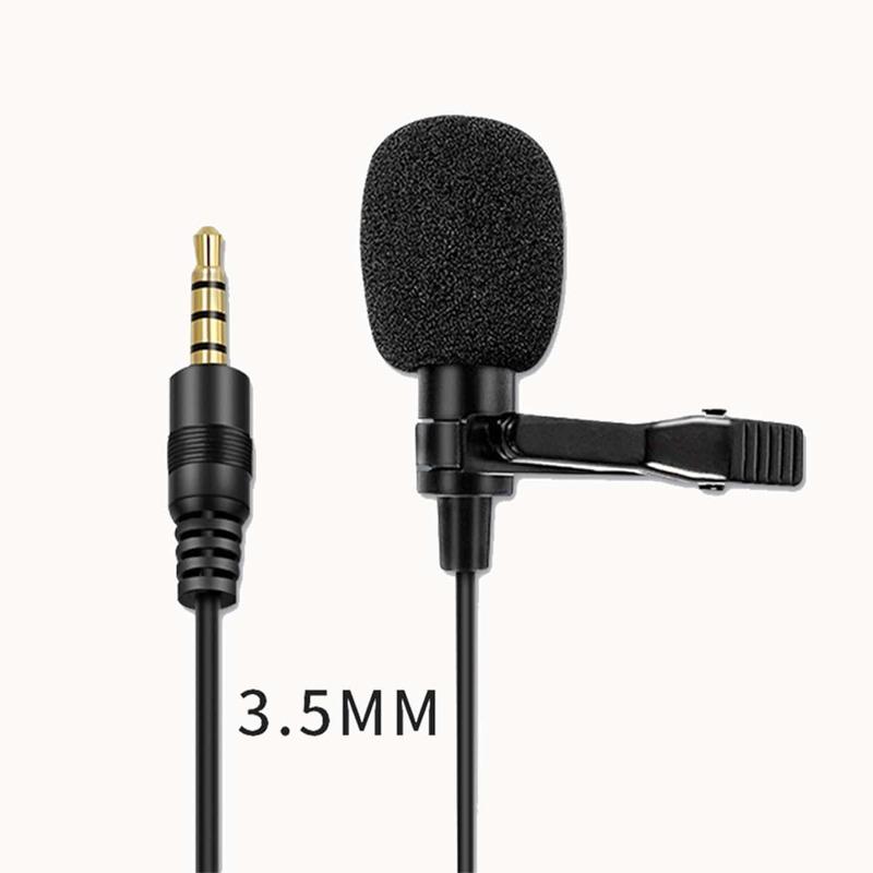 AUX Plug-In Lavalier Microphone - 1pc, Black