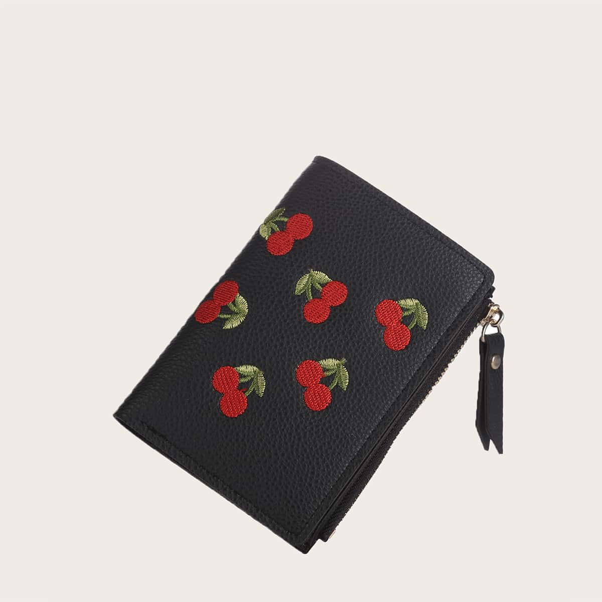 Cherry Embroidery Purse
