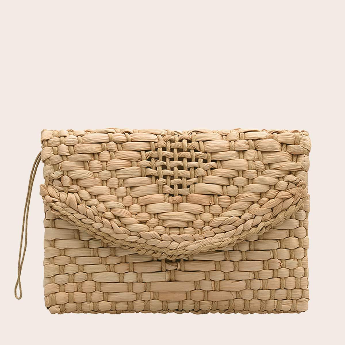 Плетеная сумка-клатч