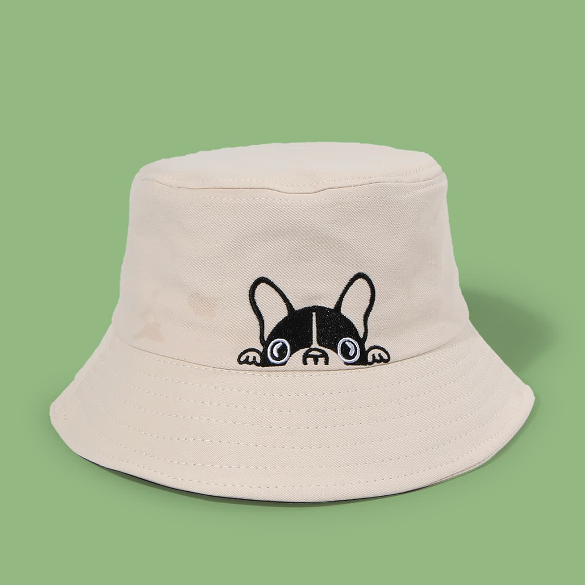 Dog Embroidery Bucket Hat, SHEIN  - buy with discount