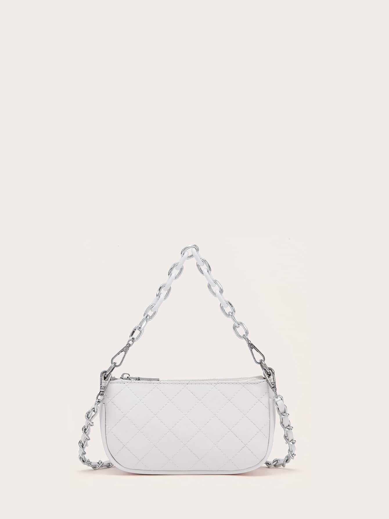 Стеганая сумка-багет1231