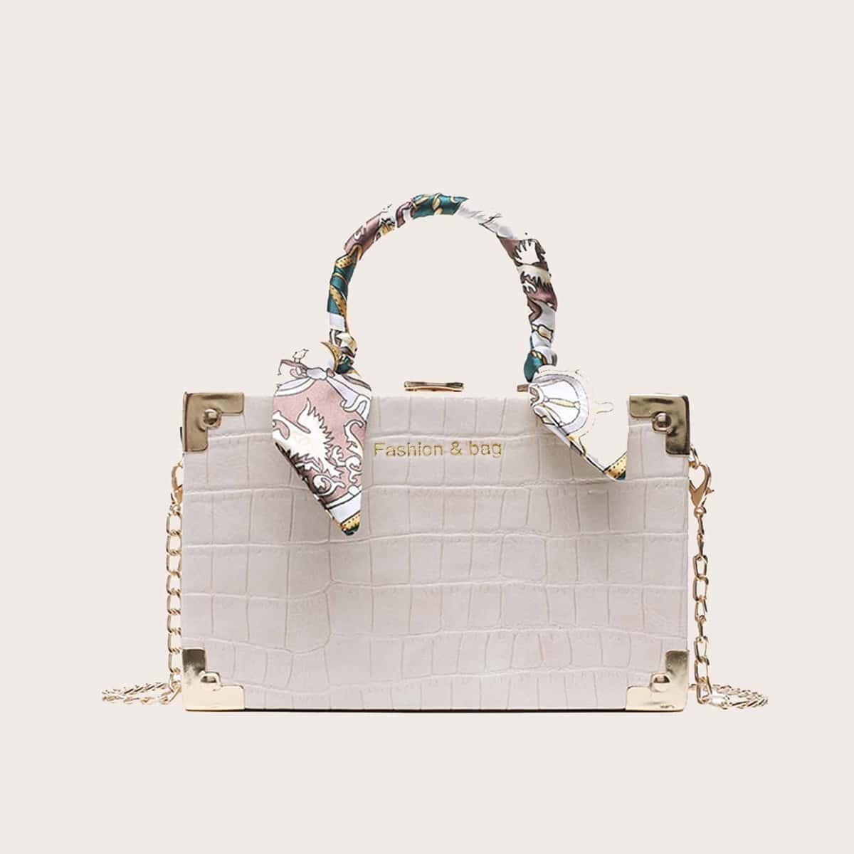 Рельефная сумка-сэтчел
