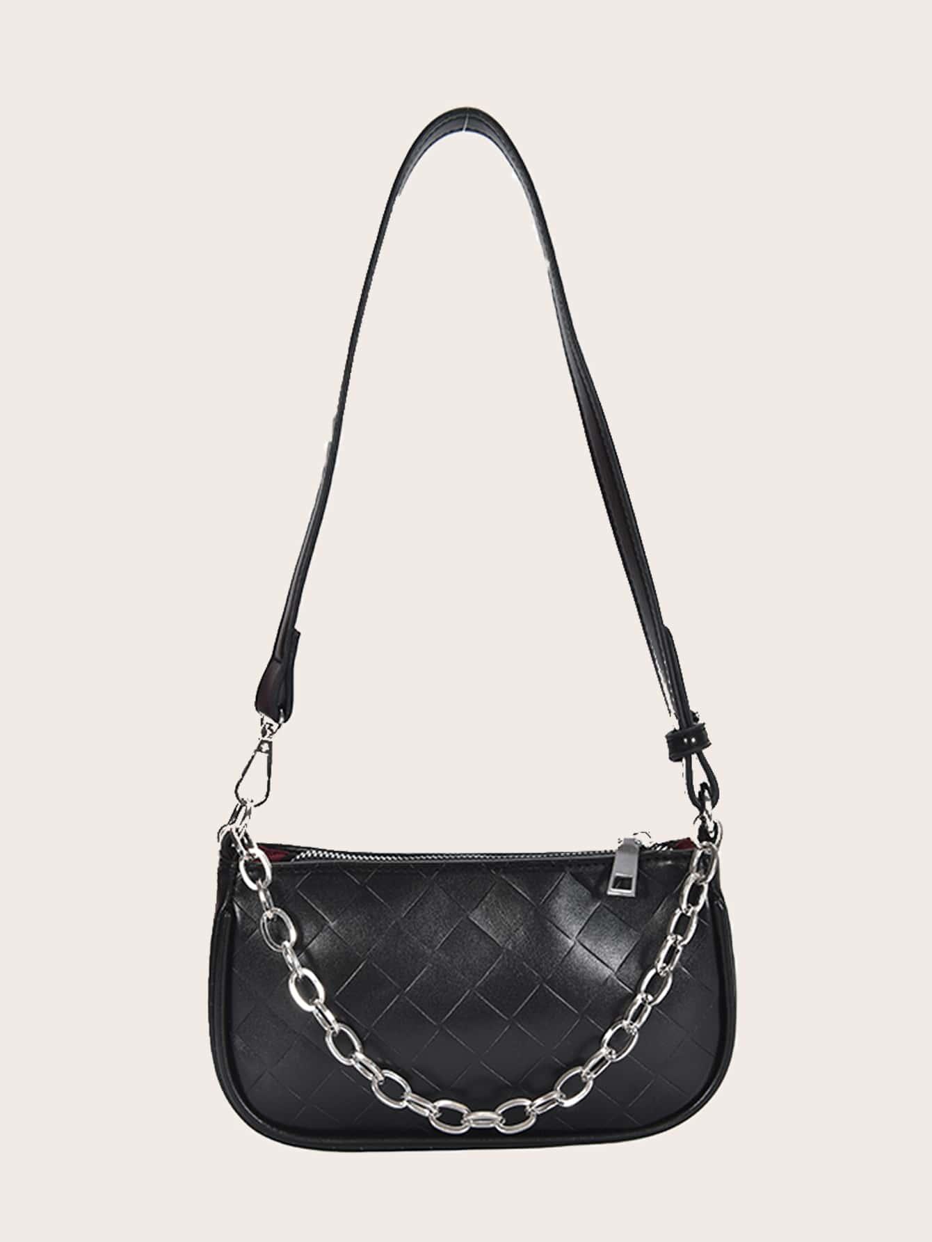Фактурная сумка-багет с цепочкой894