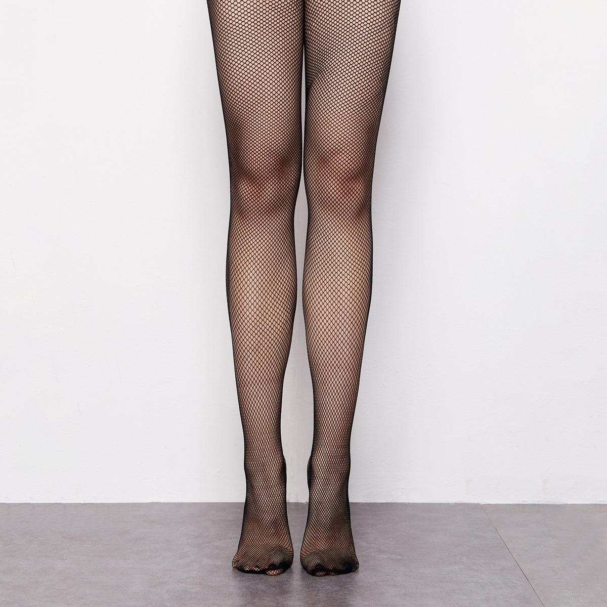 Однотонные сетчатые носки