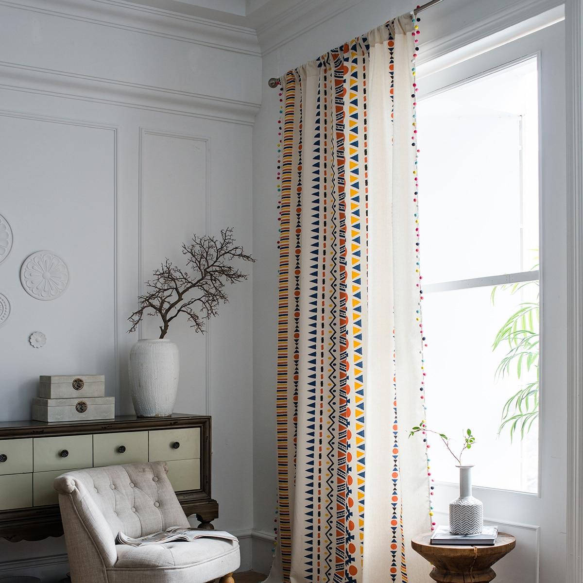 1 Stück Vorhang mit geometrischem Muster