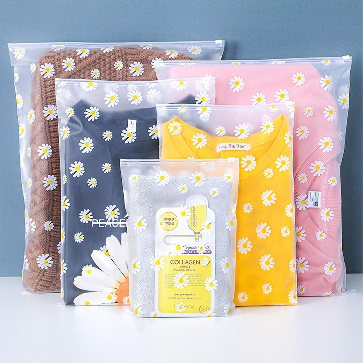 Дорожная сумка для хранения с цветочным принтом 5шт