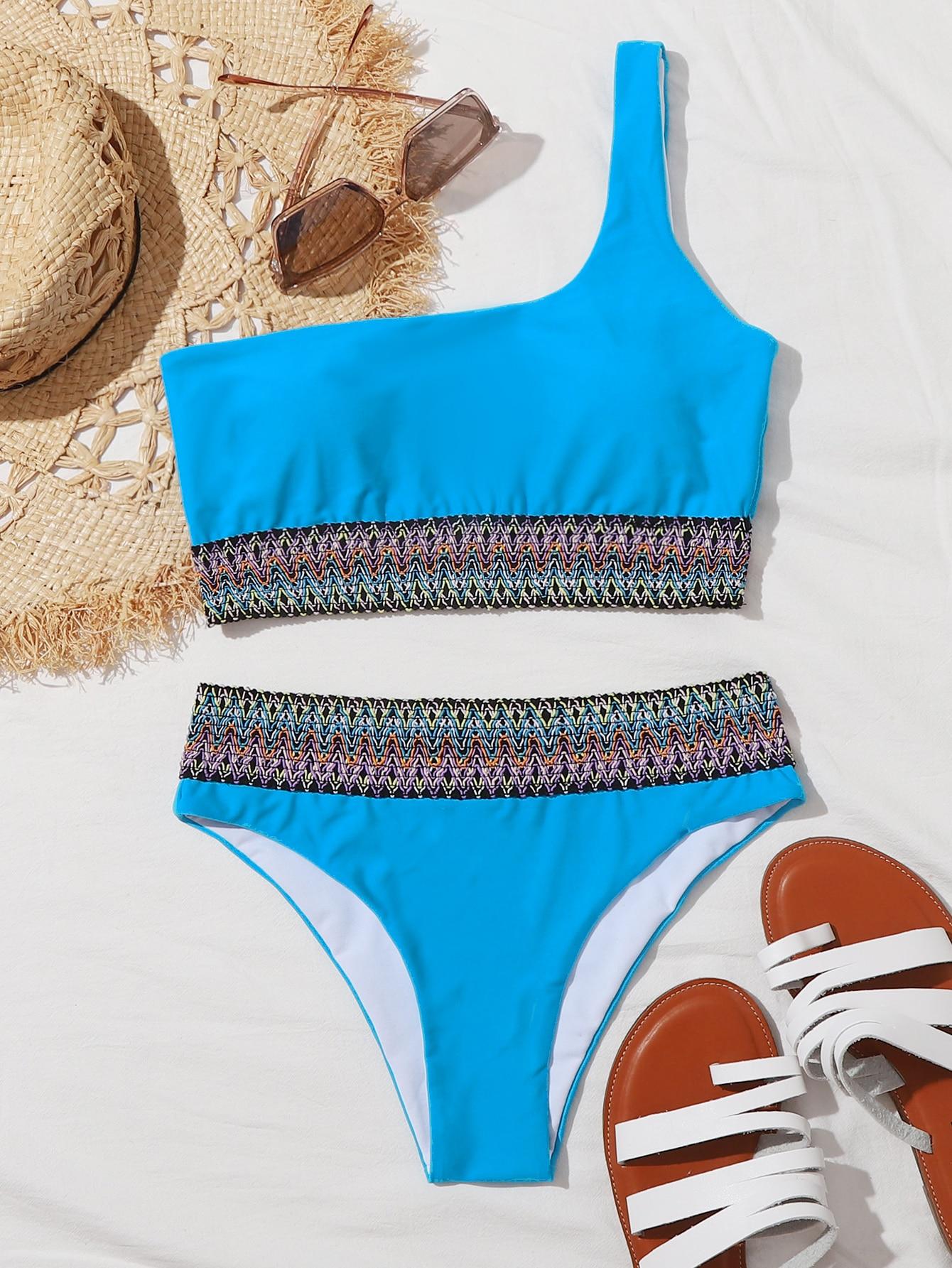 EUDOLAH Conjuntos de Bikini Casual para Mujer Chaleco El/ástico Parte Superior y Parte Inferior de Cintura Alta Traje de Ba/ño Tankini 2 Piezas Ropa de Playa