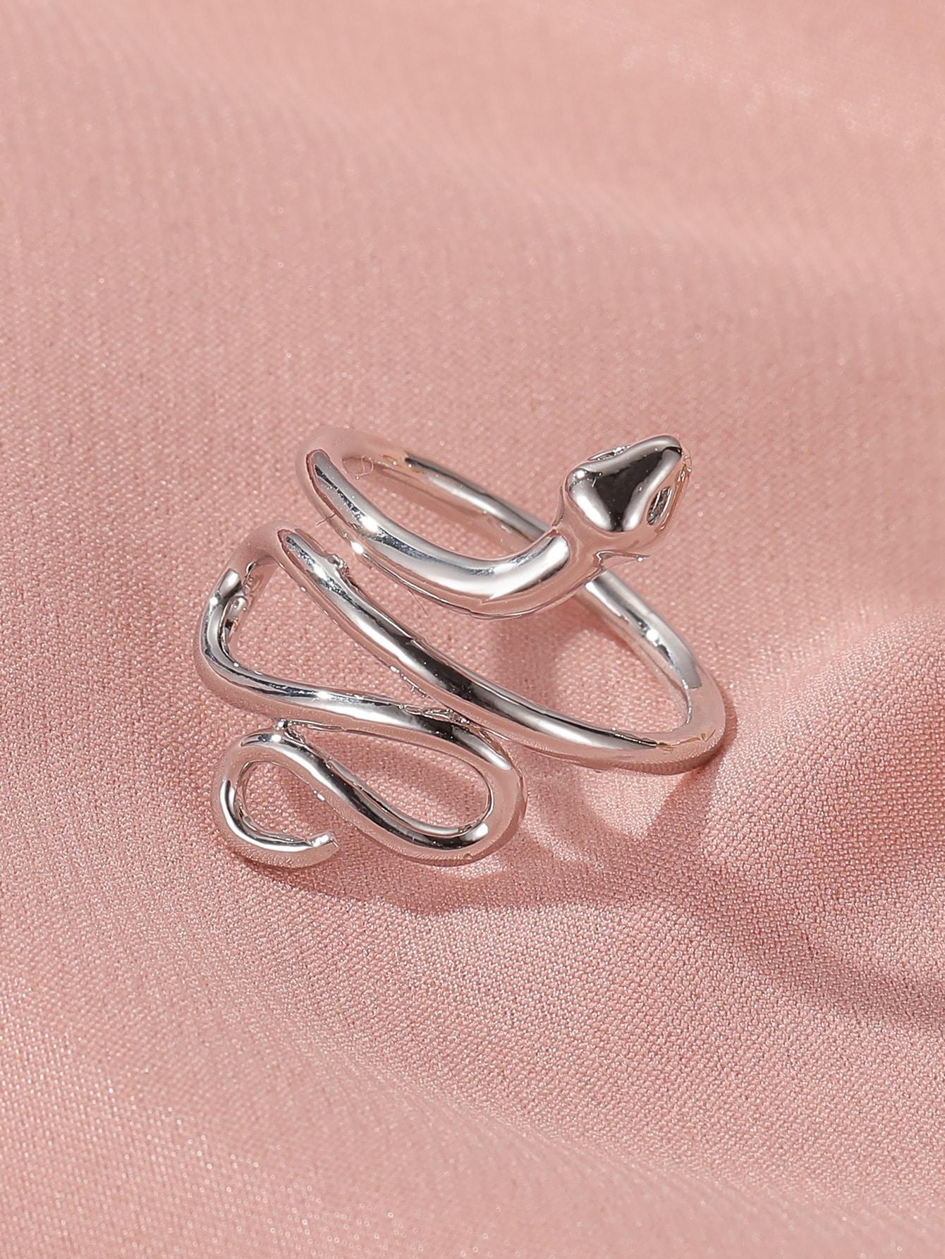 Snake Design Cuff Ring thumbnail