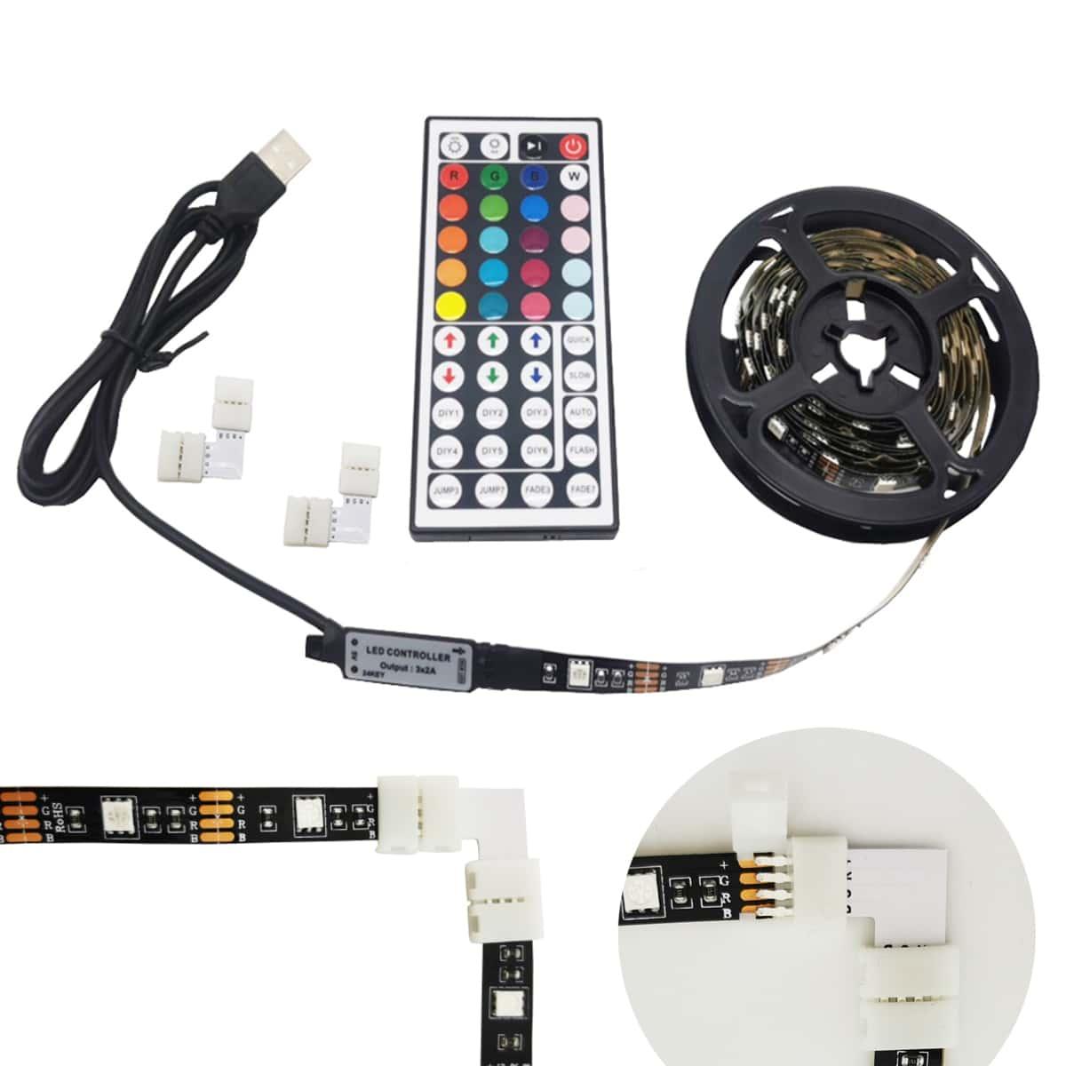 1 Stück TV Hintergrund LED Lichtleiste und Fernsteuerung