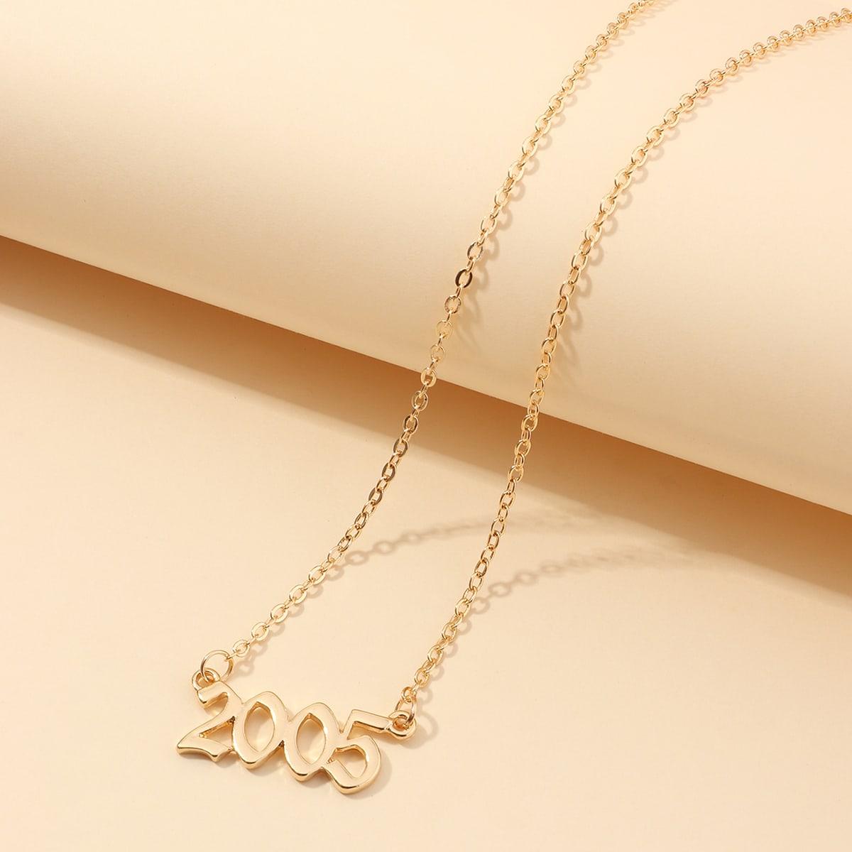 Halskette mit Nummer Anhänger
