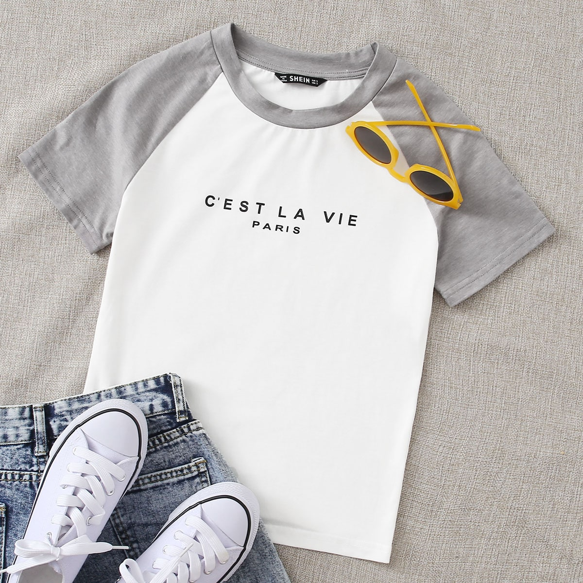 Wit Casual Slogan T-shirt