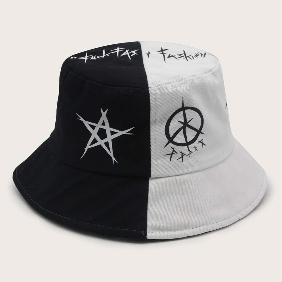 Шляпа с узором звезды