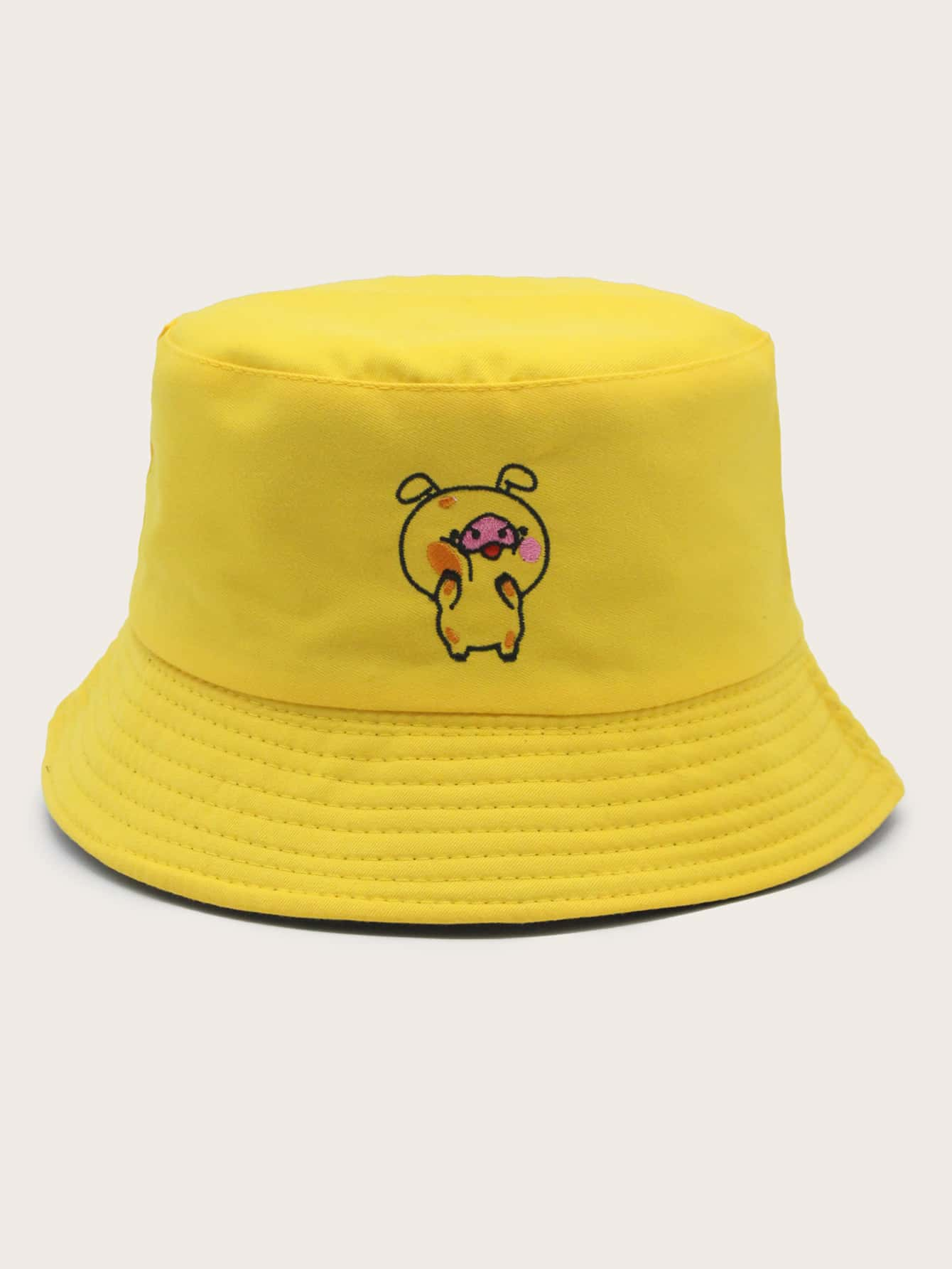 Pig Embroidery Bucket Hat thumbnail